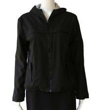 Paris Blues Outerwear Womens Black Jacket Coat Hoodie Zip Front Medium