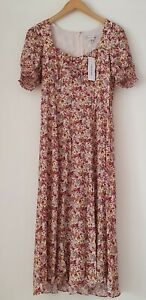 Forever New Floral Dress Sweetheart Neck Viscose size 12