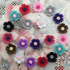 20pcs mix Resin10mm Peach blossom Flower flatback For phone/wedding/craft