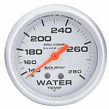 4631 AutoMeter Pro-Comp Silver Face Gauges Water Temp Liquid Filled