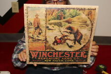 Rare Vintage 1930's Winchester Repeating Arms Rifle Hunting Gun Sign