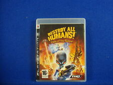 ps3 DESTROY ALL HUMANS! Path Of The Furon Alien Destruction Game Playstation PAL