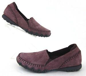 *NEW!* Skechers Relaxed Fit Bikers Alumni Slip On Shoes Purple US 6.5