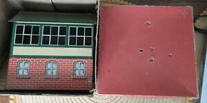 hornby o gauge no 2 signal cabin boxed vintage tinplate boxed