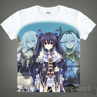 Game Hyperdimension Neptunia Cosplay Short Sleeve White T-Shirt Tops Unisex Tee