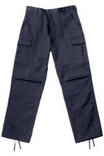 Navy Blue Military Style BDU Cargo Poly/Cotton Fatigue Pants