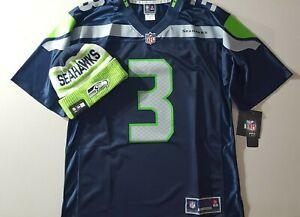 BUNDLE Russell Wilson Seahawks New NFL Pro Line jrsy men's sz MEDIUM+New Era Hat