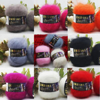Crochet 100% Mohair Knitting Wool baby soft Yarn Lot of cotton 42g balls 2 Ply