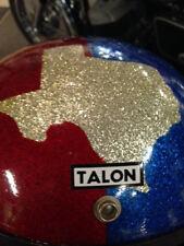 NOS1966 TALON Full face helmet MED  TEXAS TEXAS RED SILVER BLUE METALFLAKE NOS