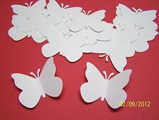50 White Large Paper Butterfly Die Cuts Cutout Punch Confetti Wedding Scrapbook