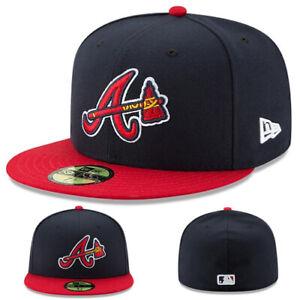 New Era Atlanta Braves Classic Fitted Hat Authentic Field Axe Logo Alternate Cap