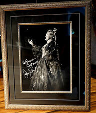 Beautiful Framed Large Signed Photo Of Dame Joan Sutherland