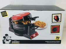 Disney Mickey Mouse 90th Anniversary Double Flip Waffle Maker Brand New