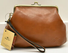 Patricia Nash Savena Leather Wristlet Clutch Handbag Brown New! NWT