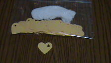 """100 Price Tags - Med. Yellow Heart card stock - 1"""" Unstrung"""