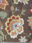 Obeetee Brown Floral Area Rug Carpet 5'×7'