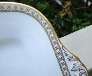 Pristine Wedgwood ULANDER GOLD Square Handled Cake Plate