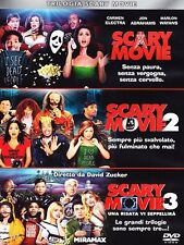 SCARY MOVIE TRILOGY. X3 DVDS.