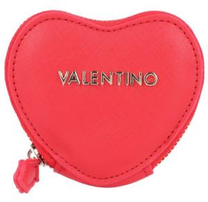 VALENTINO LADIES HEART SHAPE RED COIN PURSE VPS3XZ140 SALAMANDRA