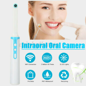 1080P HD WiFi Dental Intraorale Kamera 8LED Drahtlose Zahnkamera Auto Focus Weiß
