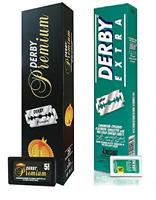Derby Premium Double Edge Razor Blades, 100 Ct + Derby Extra Double Edge, 100 Ct