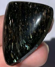 UBER RARE Nuummite Finished Cabochon...shooting stars against a night sky! VIDEO