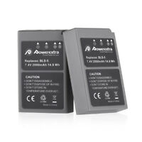 2x 2000mAh BLS-5 Battery for Olympus BLS-50 PS-BLS5 OM-D E-M10 PEN E-PL2 E-PL5