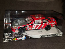 HOTWHEELS ARTIST COLLECTION 1:24 NASCAR KURT BUSCH SHARPIE DIECAST CAR