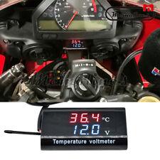 """0.28"""" Car Motorcycle DC 12V Digital Dual Display Voltmeter Voltage Panel Meter"""