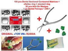 ORIGINAL Dental Sectional Contoured Matrices Matrix Ring Delta + Add-On Wedges