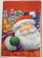 Christmas Wishes For You Daddy From Your Little Girl - Christmas Greeting Card