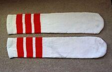 Skatersocks Tube Socks Old School 19 Inch Knee Socks Unisex Hi Orange White