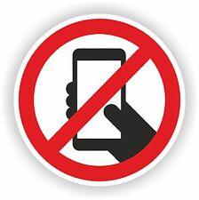 NO SMARTPHONE CELLPHONE PHONE sticker Warning Safety decal caution SECURITY