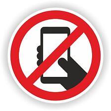 No Smartphone Teléfono Móvil teléfono etiqueta de advertencia de seguridad de la calcomanía precaución de seguridad