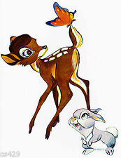 """9.5"""" DISNEY BAMBI THUMPER FLOWER SKUNK PREPASTED WALL BORDER CUT OUT"""