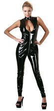 Gr. XL  Sexy Lack Overall Schwarz Ganzanzug Gogo Party Body Stocking Catsuit