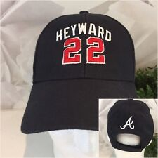 Twins Enterprise Jason Heyward 22 Atlanta Braves Hat Mens Black Wool Poly OS EUC