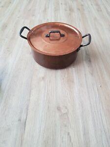 Kupfer Topf Kupferkochtopf mit Deckel