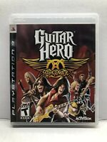 Guitar Hero Aerosmith - PlayStation 3 PS3 - Complete w/ Manual - Tested Working