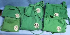 a Lot of 6 used Starbuck Aprons ~ Green