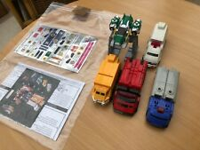 Power Rangers Lightspeed rescue deluxe megazord + carrier sledge + new stickers
