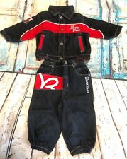 Roca Baby Roca Wear Jean Jacket And Pants Set Embroidered Size 18 Months