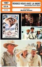 FICHE CINEMA : RENDEZ-VOUS AVEC LA MORT Ustinov,Bacall1987Appointment With Death
