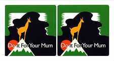 BRITISH SEA POWER Do It For Your Mum UK pair of uncut promotional stickers NEW