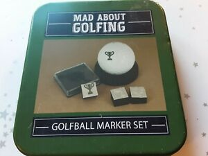 Golf Ball, personalised. Marker set in tin, everything you need included.