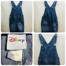 Disney Womens Size S Bib Overall Shorts 100% Cotton Shortalls Great Pockets ABox