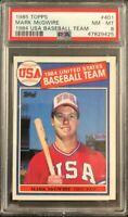 1985 Topps USA Baseball #401 Mark McGwire PSA 8