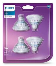 4 x Premium Philips LED Downlight Globes / Bulbs 5W 12V MR16 GU5.3 Cool White