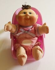 """Cabbage Patch Kid Baby Doll Play Along Brown Hair Gray Eyes Carrier Girl 11"""""""