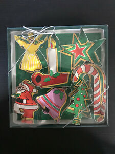 Fox Run Candy Cane Santa Angel Tree Star Bell Candle Metal Cookie Cutter Set